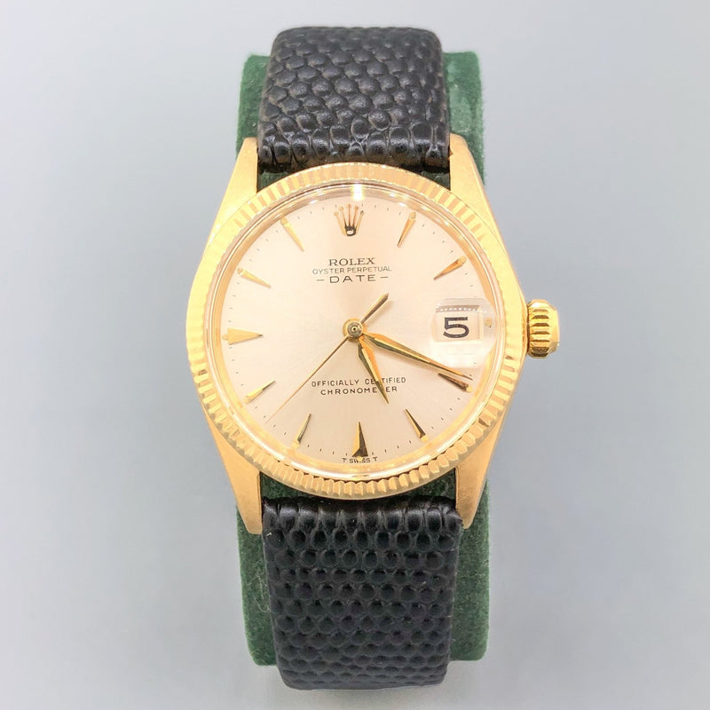 Estate 18k YG Rolex Oyster Perpetual Datejust Automatic Watch - Walter Bauman Jewelers