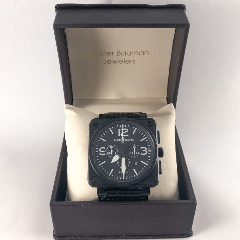Estate Bell & Ross Square Military Watch - Walter Bauman Jewelers