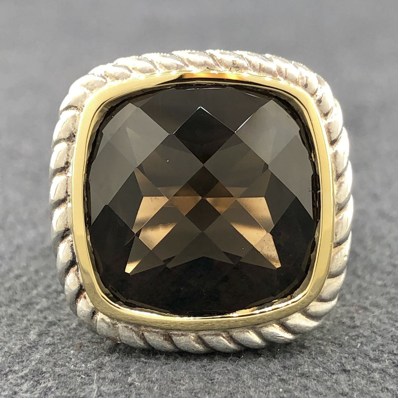 Estate SS & 18K Smokey Quartz Ring - Walter Bauman Jewelers