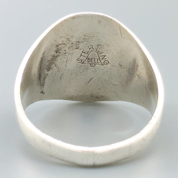 Estate Sterling Silver Double Arrow Signet Ring - Walter Bauman Jewelers
