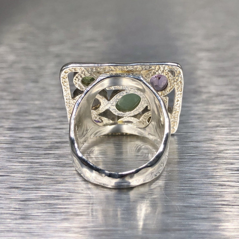Estate Sterling Silver Multistone Ring - Walter Bauman Jewelers