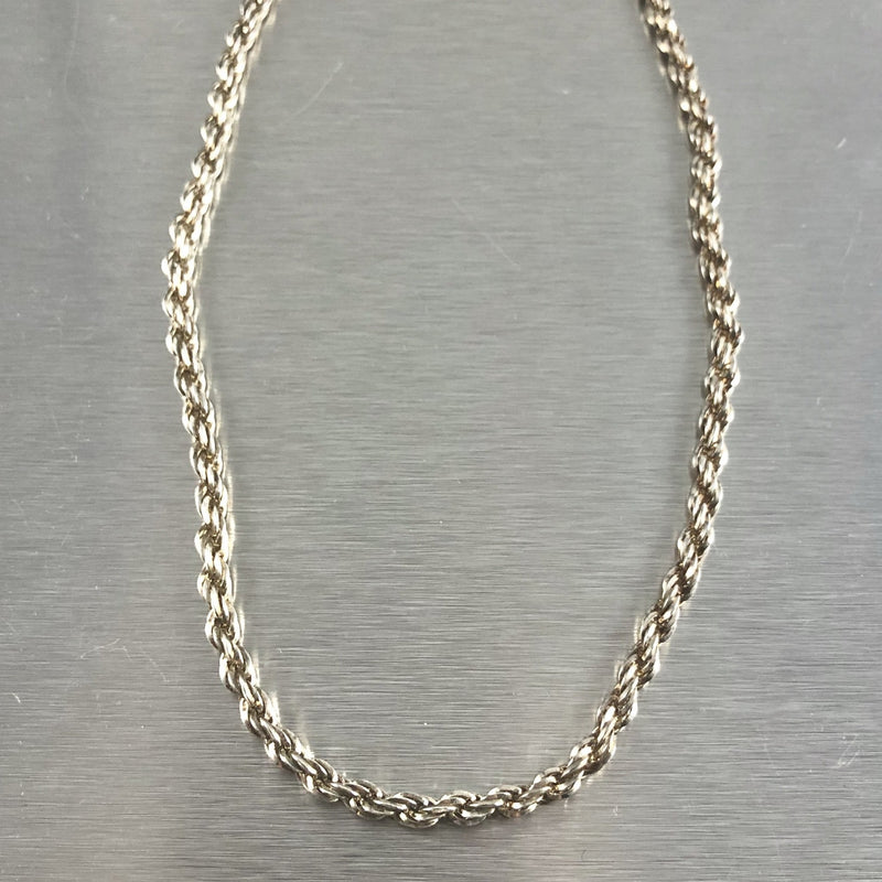 Estate Sterling Silver Rope Chain - Walter Bauman Jewelers