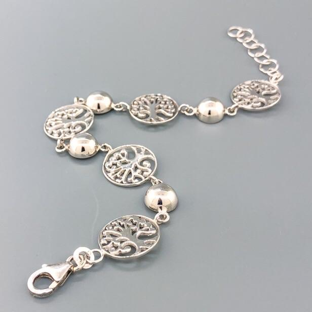 Estate Sterling Silver Tree of Life Bracelet - Walter Bauman Jewelers