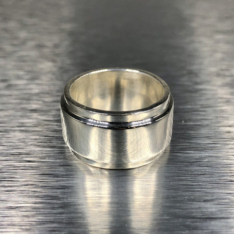 Estate Sterling Silver Wide Band - Walter Bauman Jewelers