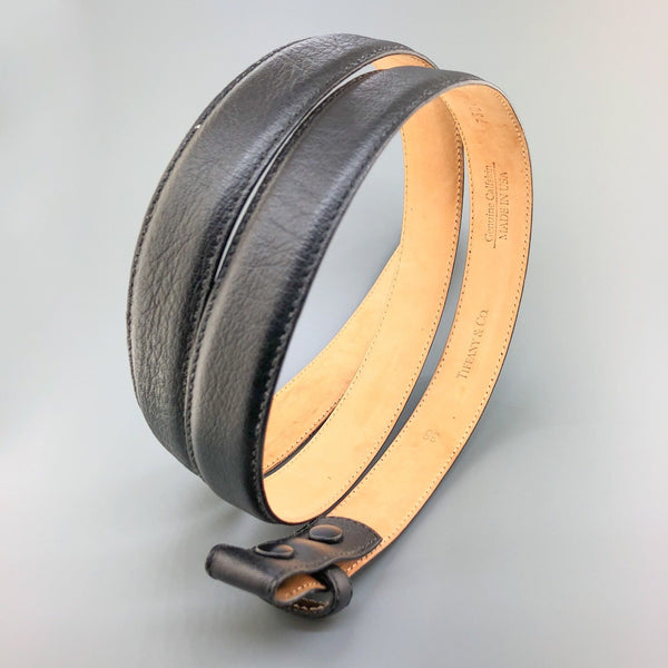 Estate Tiffany & Co. Black Leather Belt 38 - Walter Bauman Jewelers