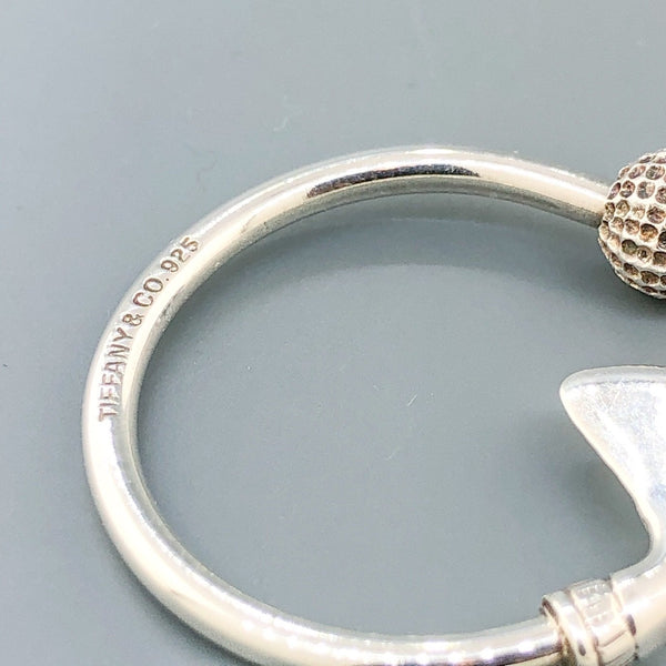 Estate Tiffany & Co Sterling Silver Gold Ball Key Ring - Walter Bauman Jewelers