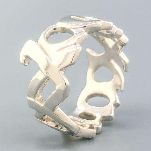 Estate Tiffany & Co. Sterling Silver XOXO Ring - Walter Bauman Jewelers