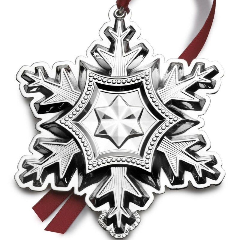 Gorham 45th Edition Annual 2014 Sterling Silver Snowflake Ornament - Walter Bauman Jewelers
