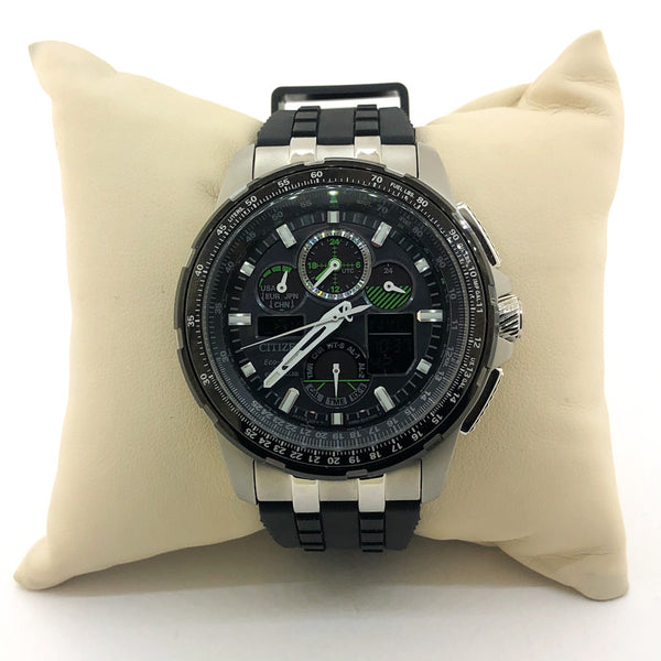 Citizen Men's Skyhawk Black Eco-Drive Watch - JY8051-08E