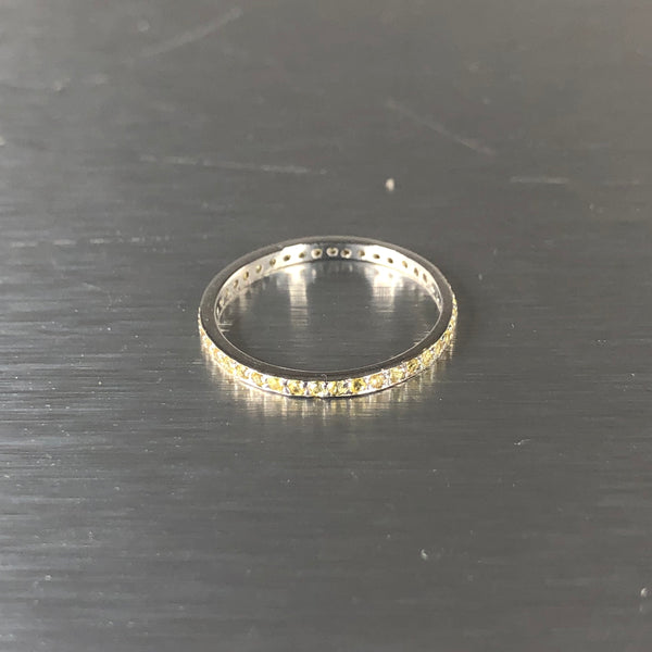 Estate 18kw Yellow Sapphire Eternity Band