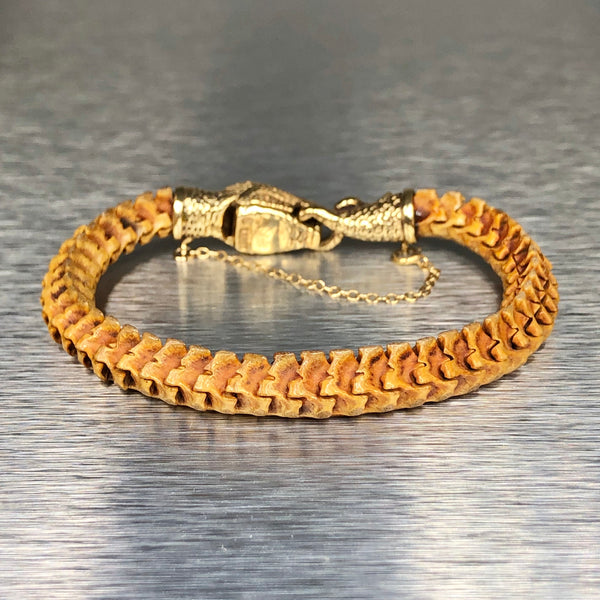 Estate 14k Yellow Gold Snake Bracelet