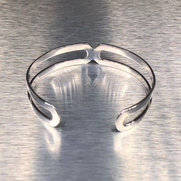 Estate 18k White Gold Diamond Cuff Bracelet