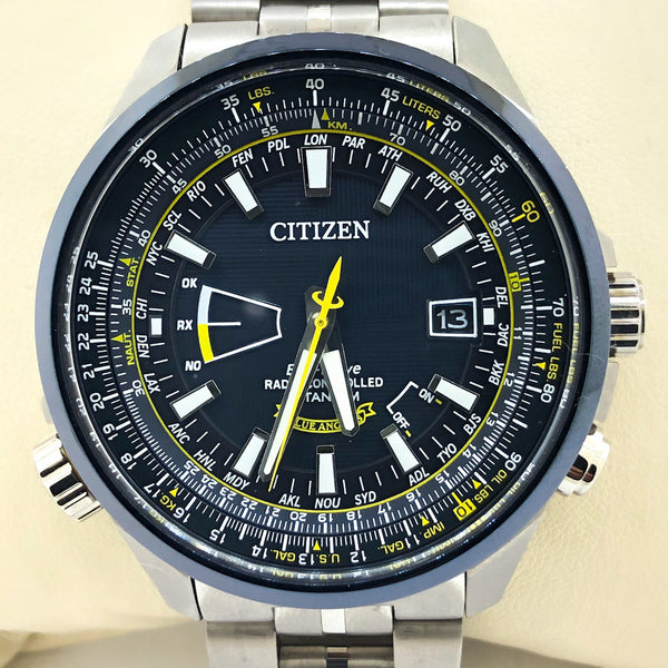 Citizen Eco-drive Men's Blue Angels at Titanium - CB0147-59L