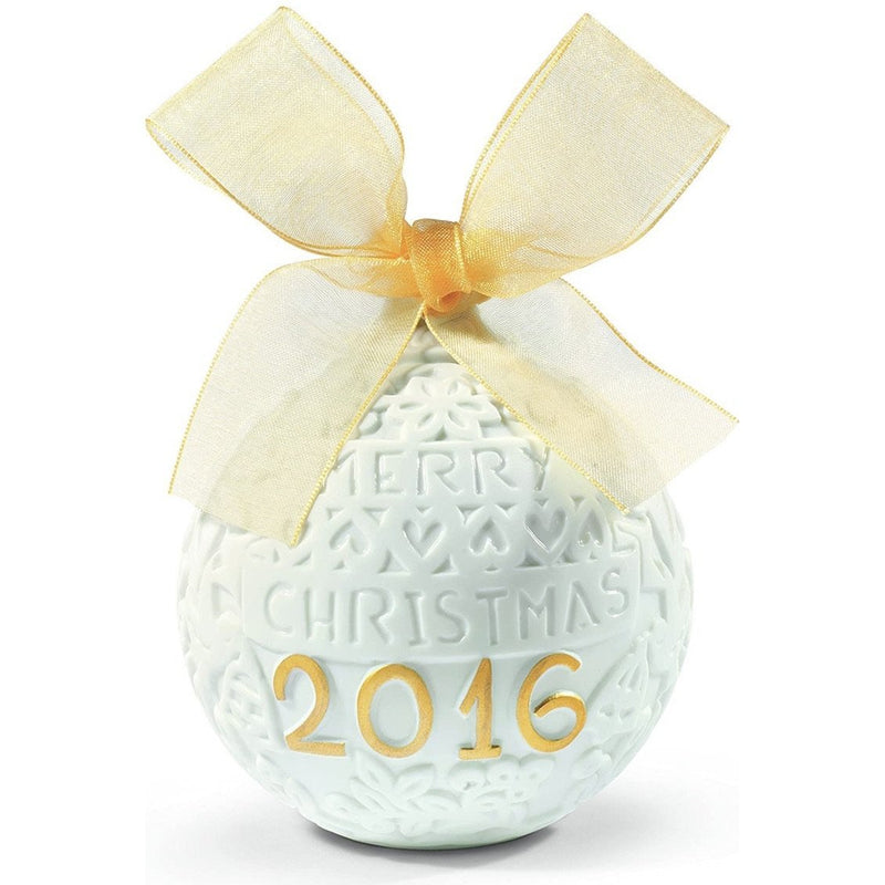 Lladro 2016 Christmas Ball Gold - Walter Bauman Jewelers