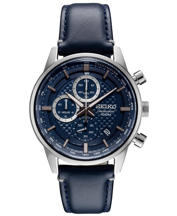 Men's Seiko Analog quartz blue dial and band SSB333 - Walter Bauman Jewelers