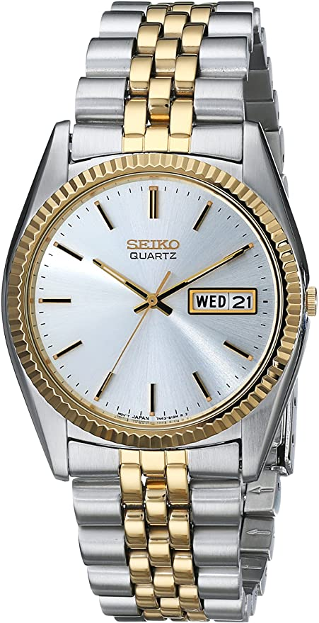 Men's Seiko Analog quartz two-tone day/date calendar SGF204 - Walter Bauman Jewelers