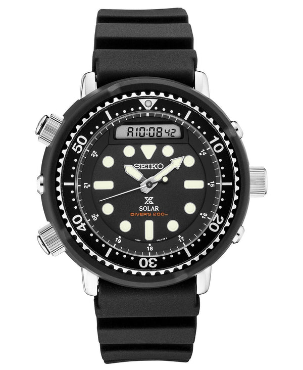 Men's Seiko Modern Interpretation of the 1982 Hybrid Diver's solar SNJ025 - Walter Bauman Jewelers