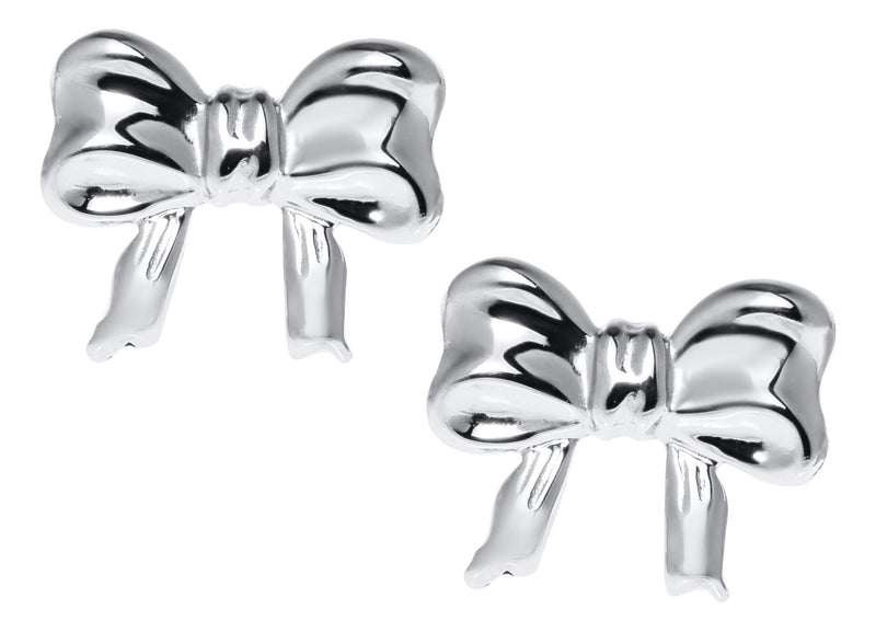 SS Child's Bow Knot Studs - Walter Bauman Jewelers