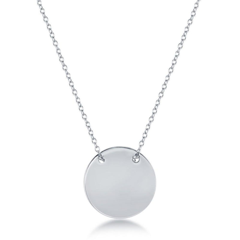 "SS Disc Necklace 18"" - Walter Bauman Jewelers"