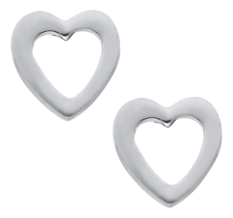 SS Open Heart Earring - Walter Bauman Jewelers