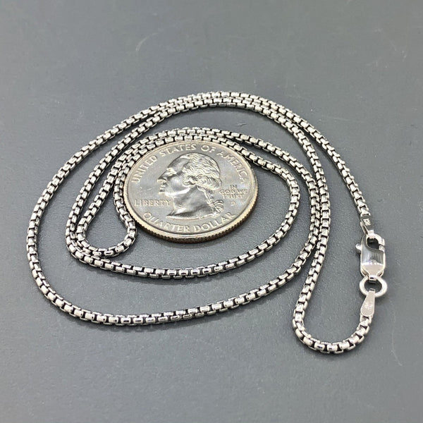 "Sterling silver 20"" 1.8mm Round Box Chain - Walter Bauman Jewelers"