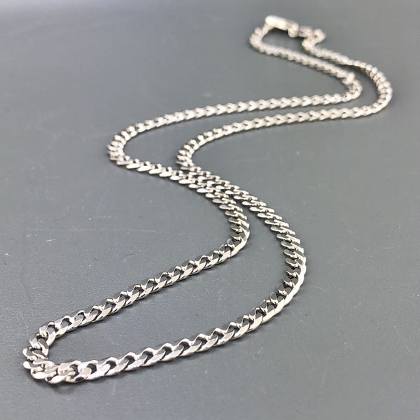 "Sterling silver 20"" 3.8mm Cuban link chain - Walter Bauman Jewelers"