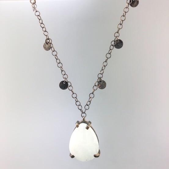 Sterling Silver Black Rhodium Quartz Necklace - Walter Bauman Jewelers