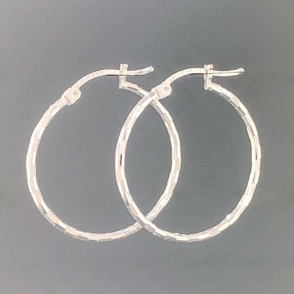 Sterling Silver Diamond Cut Hoop 1.9 - Walter Bauman Jewelers