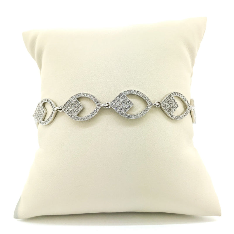 Sterling Silver Micro Pave CZ Bracelet - Walter Bauman Jewelers