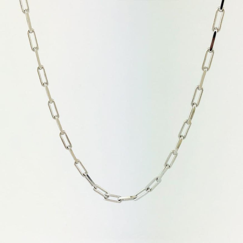 "Sterling silver paperclip necklace 18"" - Walter Bauman Jewelers"