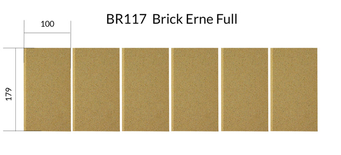 BR117    Brick Erne Full Set (6 Pieces) 100mm x 179 mm BEFORE 2018
