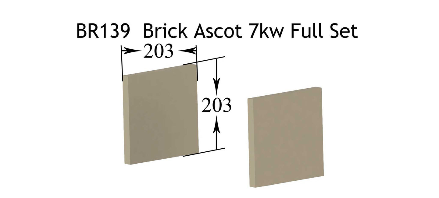 BR139 - Brick Ascot 7kw Right & Left Side