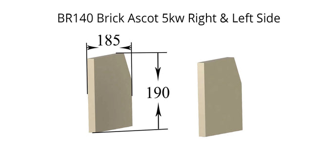 Ascot 5kw Right & Left Side - Brick