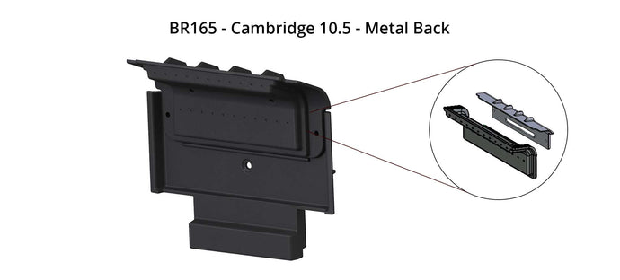 BR165 - Cambridge 10.5 - Metal Back with air holes