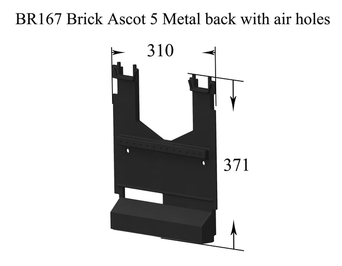 BR167 Brick Ascot 5 Metal back with air holes