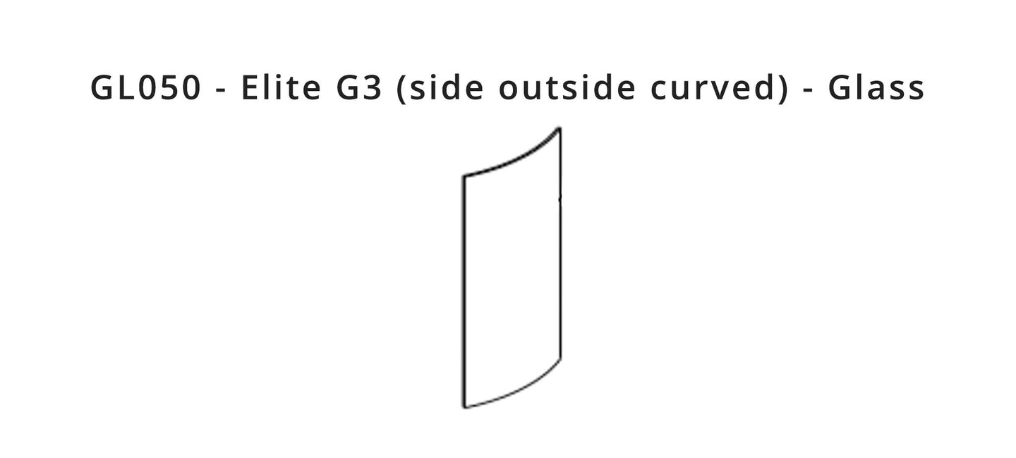 GL050 - Elite G3 (side outside curved) - Glass