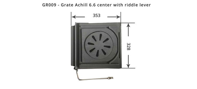GR009 - Grate Achill 6.6 center with riddle lever