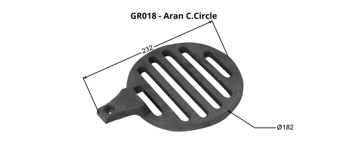 GR018 - Aran/Skellig - Grate  Centre Circle
