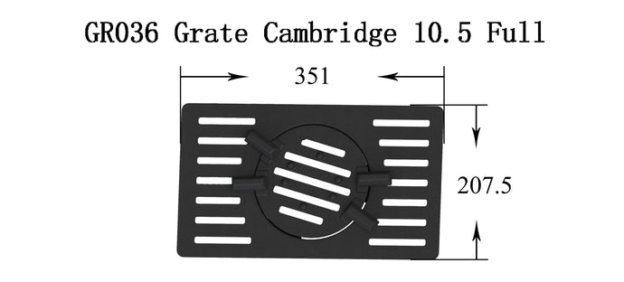 GR036 - Cambridge 10.5 - Grate (Full set)