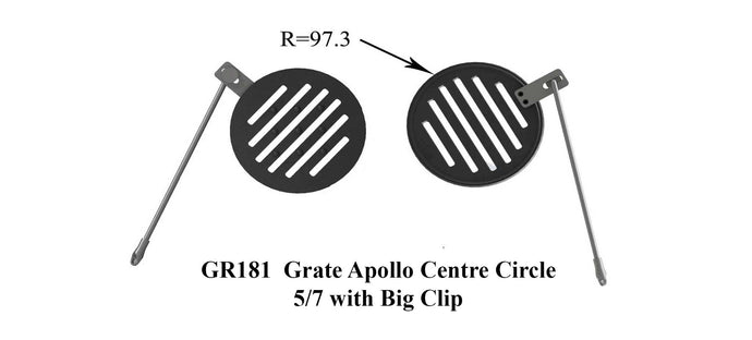 GR181 - Grate Apollo Centre Circle 5/7 with Big Clip