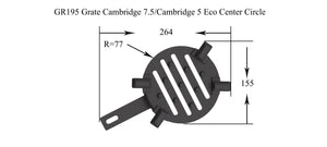 GR195 - Grate Cambridge 7.5 Center Circle