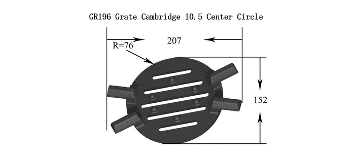 GR196 - Grate Cambridge 10.5 Center Circle