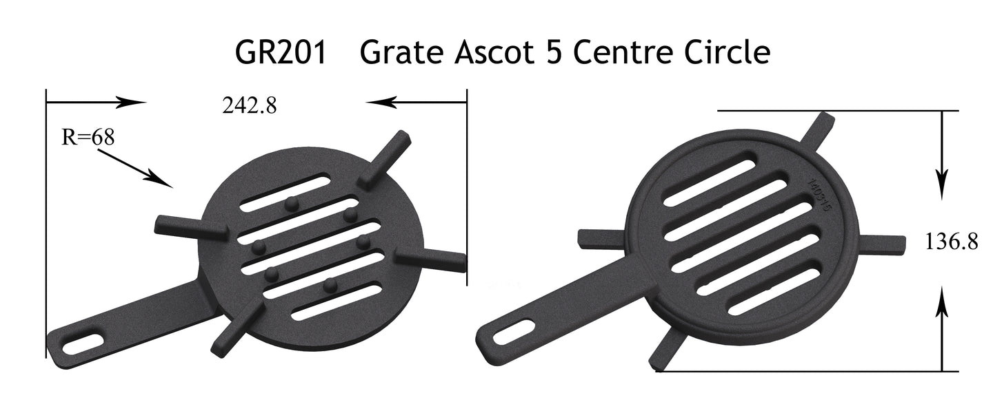 GR201 - Ascot 5 - Grate Centre Circle