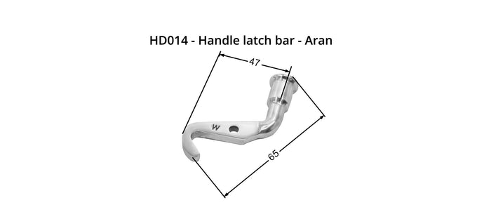 HD014 - Handle - Aran - Latch Bar