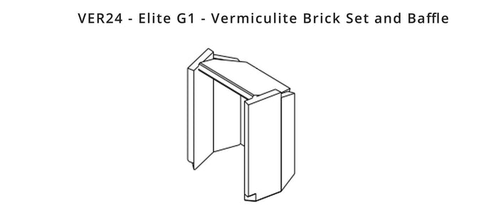 VER24 - Elite G1 - Vermiculite Brick Set and Baffle