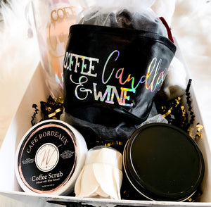 Pretty Balm Bonnets & Wine Holiday Pamper Basket