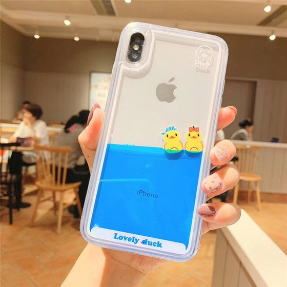 Cute Cartoon Dynamic Liquid Phone Cases for Iphone
