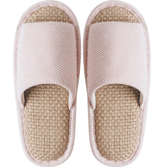 Japanese Natural Linen Cotton Home Slippers