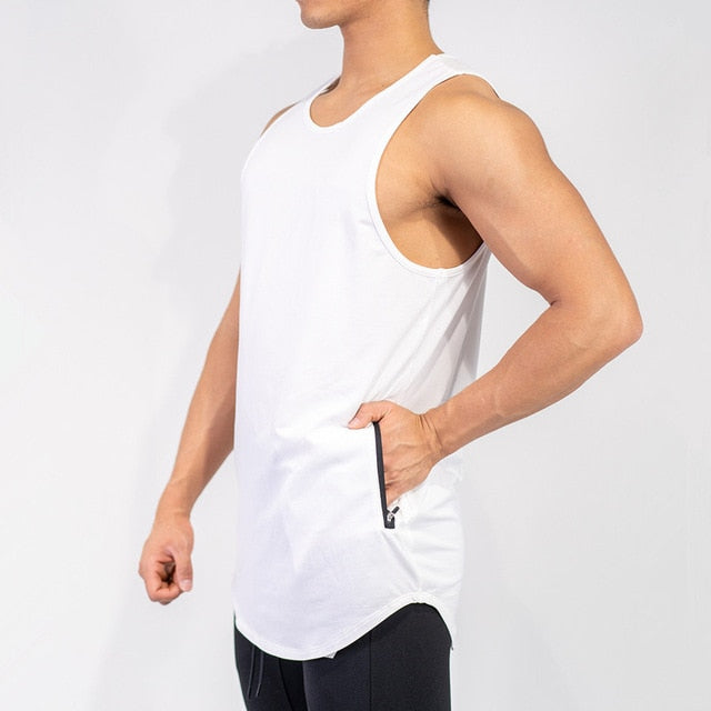 'ZIP' Menstrendzz Pocko Tank Top - Mens Trendzz