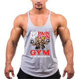 No Pain No Gain Gym of the Muscleguys Tank Top - Mens Trendzz